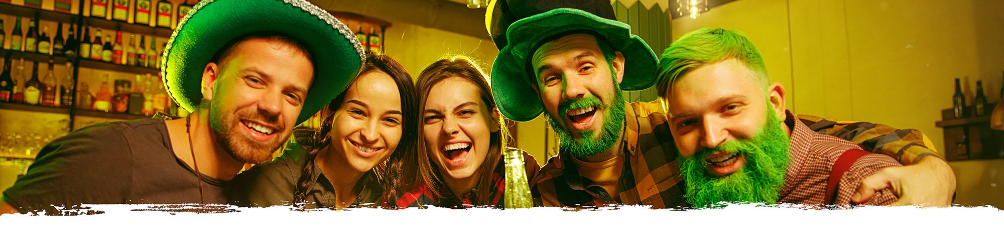 Drinking green beer